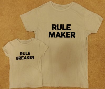Plenty Collection親子裝RULE MAKER 男款 XXL號+小孩款Rule breaker 4-6Y