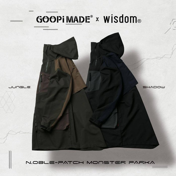"{UG}-GOOPiMADE x WISDOM II ""N.oble Patch Monster Parka"
