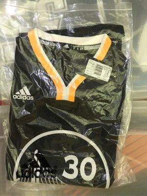 Stephen Curry sc30 Adidas NBA球衣 S號 全新正品 勇士復古客場黑