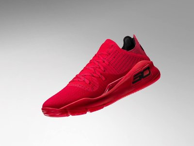 Under armour UA curry 4 low NOTHING BUT NETS 紅 美國公司貨