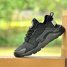 D-BOX NIKE AIR HUARACHE ULTRA BREATHE 全黑 網面 復古百搭 慢跑鞋 運動鞋
