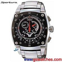 【金響鐘錶】全新SEIKO SNL033J1,Sportura,公司貨,KINETIC計時,藍寶石,7L22-0AM0D