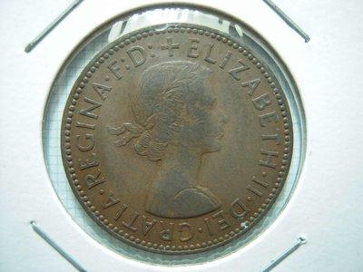 英國.Half Penny.1958年