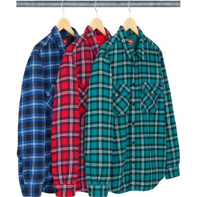 【紐約范特西】預購 SUPREME FW19 Arc Logo Quilted Flannel Shirt 格子襯衫