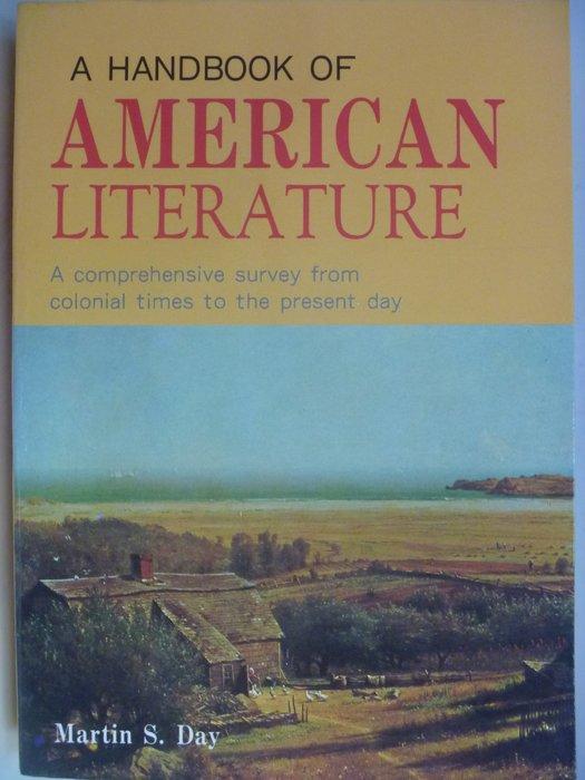【月界二手書】A Handbook of American Literature_Day_原價250 〖大學文學〗ADO