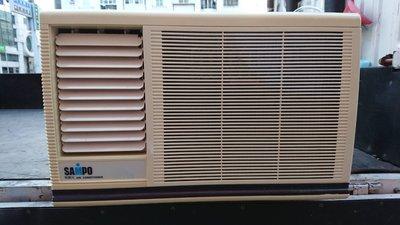 已售【 樂活家電館】【二手冷氣/ 中古冷氣 聲寶 殺菌光 4-5坪 1.3噸 左吹窗型冷氣機 AW-D25BR1】已保養
