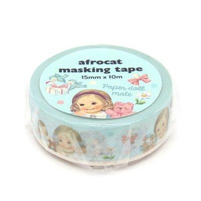 ❅PAVEE❅ 韓國afrocat~ Masking Tape 和紙膠帶~ 01復古洋娃娃 Alice