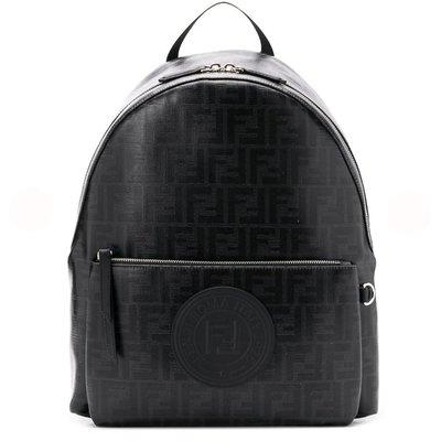 HJ國際精品館19春夏FENDI 7VZ042 FF Logo圖案後背包-黑