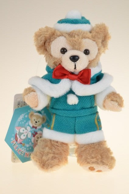 尼德斯Nydus~* 東京迪士尼海洋 達菲熊 Duffy 聖誕節限定 吊飾 站姿 約15cm -現貨