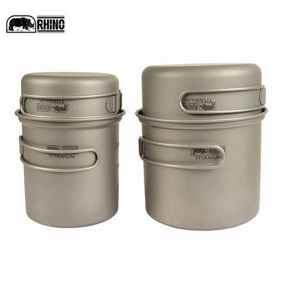 丹大戶外【RHINO】犀牛 KT-82 雙人鈦合金套鍋 套鍋│調理鍋│碗│鍋具│湯鍋