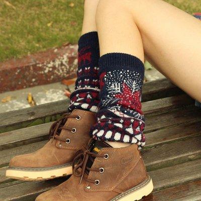 秋冬新款 韓國寬松針織毛線帶鉆襪套靴套護腿套女襪堆堆襪
