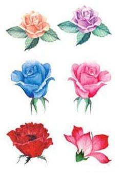 小妮子的家@手繪系列水移畫/古典玫瑰轉印貼紙/家具瓷磚貼/玻璃貼~20-59