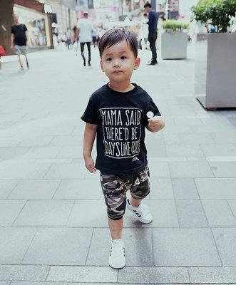 【Mr. Soar】 D441 夏季新款 歐美style童裝男童薄款迷彩哈倫褲五分褲 現貨