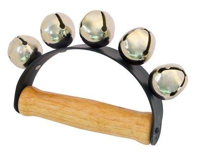 【晴晴百寶盒】台灣製造 雪鈴5個鈴 手搖鈴音樂 雪鈴樂器 益智遊戲 高品質 樂器送禮禮物禮品 創意兒童早教 W112
