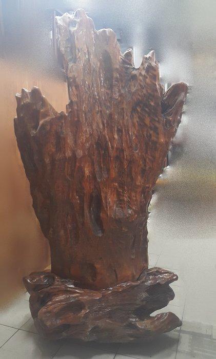 樂居二手家具 全新中古傢俱家電 A812CJJC 牛樟大屏風*裝飾品 木雕藝品 牛樟雕刻 原木家具買賣紅木樟木柚木雞翅木