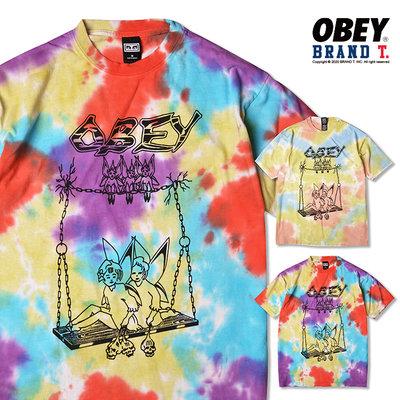 【Brand T】OBEY CAST OUT HEAVYWEIGHT BLOTCH 渲染精靈 LOGO 鞦韆 短T 2色