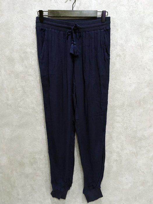 Maple麋鹿小舖 American Eagle * AE 深藍色薄款休閒縮口長褲 * ( 現貨XS號 )