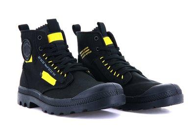 ※EP※PALLADIUM PAMPA HI RE-CRAFT 靴型 帆布 男女 黑黃 77220008 白黃 116