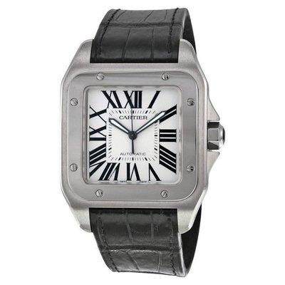 真品全配盒齊全-卡地亞Cartier Santos 100 山度士機械錶