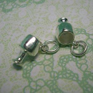琥珀貓~【925純銀材料配件】墜飾~A0142~高腳杯~一個