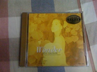 中森明菜 Akina Nakamori WONDER 24K金PURE GOLD CD/完全生產限量盤日幣4300 無側標