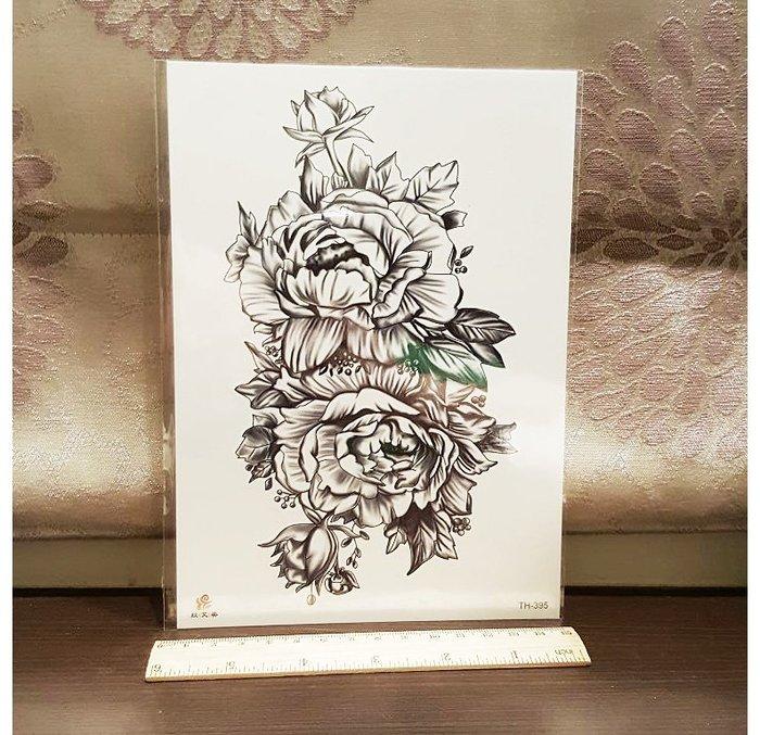 【萌古屋】線條花朵TH-395手臂大圖 - 男女防水紋身貼紙刺青貼紙