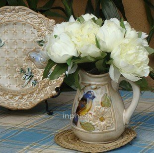 INPHIC-奶壺造型立體感小花瓶 高溫窯變瓷 花瓶 花器