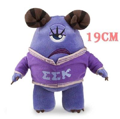 【美國大街】正品.美國迪士尼怪獸電力公司怪獸大學 EEK Violet Steslicki 絨毛娃娃 7.5吋/19cm