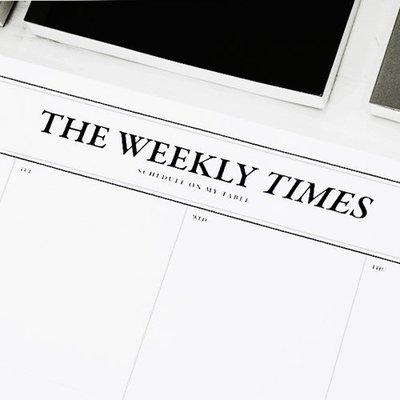♀高麗妹♀韓國 SEESO THE WEEKLY TIMES 單純的美好 單張式週計劃/自填日期萬年A4週曆(預購)