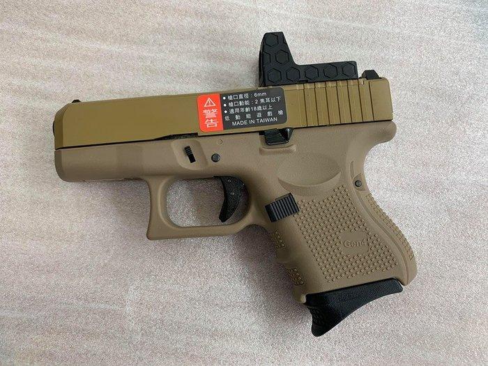 JHS((金和勝 槍店))免運費 WE 沙色 G27 Gen4 RMR版 瓦斯手槍 4823