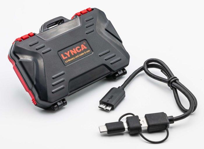 呈現攝影-LYNCA 工具箱型記憶卡/讀卡機保護盒 CF+SD+TF卡都可 防塵、耐摔、抗震 USB3.0