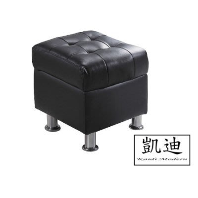 【凱迪家具】M3-188-3 庫倫40深咖啡皮沙發椅凳/桃園以北市區滿五千元免運費/可刷卡
