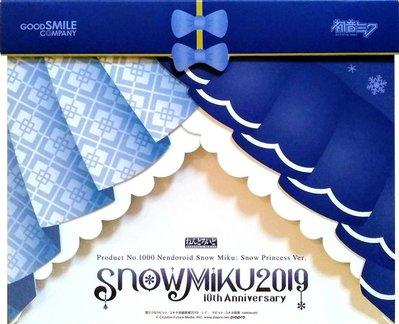 日本正版 GSC 黏土人 初音未來 雪初音 Snow Princess 雪公主 可動 Q版 模型 公仔 日本代購