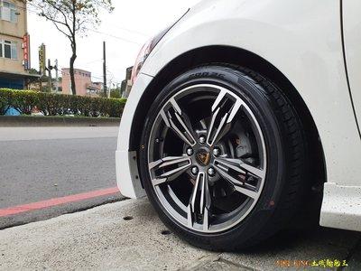 土城輪胎王 類 M6 17吋鋁圈 灰底車面 5/100 5/120 E39 E60 ELANTRA