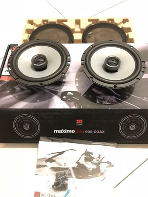 美樂儀公司貨高級同軸喇叭 英國morel maximo ultra 602 coax 6.5寸 蠶絲高音