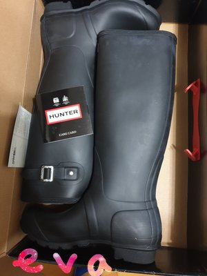 全新 Hunter 黑色 長筒靴