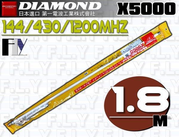 《飛翔無線3C》DIAMOND X5000 (日本進口) 基地台專用 三頻天線 木瓜天線