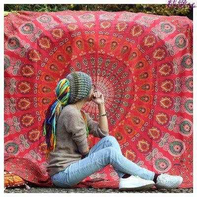 精緻life 印度進口復古純銀曼達拉mandala掛布掛毯壁掛 瑜伽工作室拍攝床單