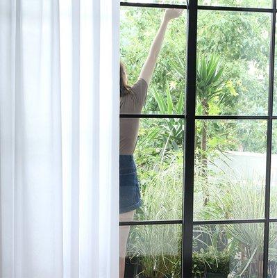 《L·H·L》布藝家紡~定制成品簡約現代隔断装饰白紗窗紗飘窗