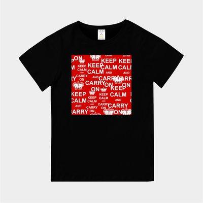 T365 MIT 親子裝 T恤 童裝 情侶裝 標語 美式風格 slogan KEEP CALM AND CARRY ON