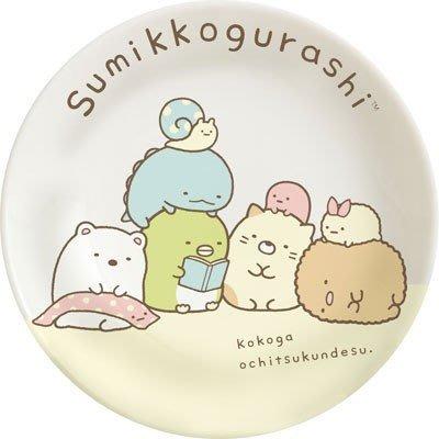 日本製角落公仔陶瓷小圓盤--SAN-X角落公仔/角落寶貝陶瓷小盤/小皿--秘密花園