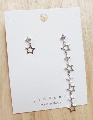 正韓現貨 0521【不對稱星星精緻銀針...