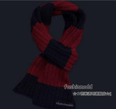 ☆✿fashionodd ☆ξ 【Abercrombie & Fitch 】 a&f  winter scarves 條紋保暖圍巾【現貨】KIDS