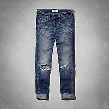 Maple麋鹿小舖 Abercrombie&Fitch * AF 刷破洗舊風牛仔褲 *( 現貨0/2號 )