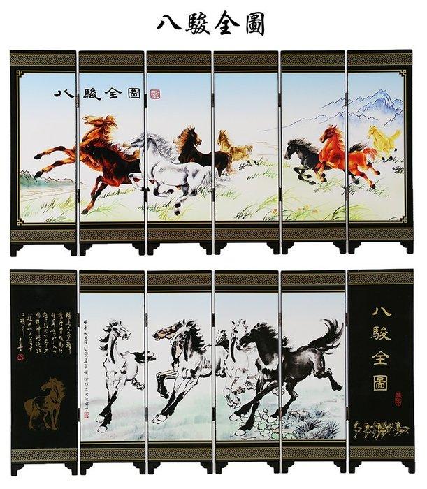 裝飾品 復古 仿古六扇中國屏風漆器小屏風裝飾擺件 預購 JYUN'S 送禮 擺飾