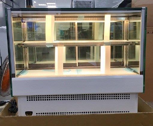 冠億冷凍家具行 2019新款台灣製金格四尺桌上型直角蛋糕櫃/4尺落地直角蛋糕櫃/西點櫃、巧克力櫃/玻璃兩側有除霧線