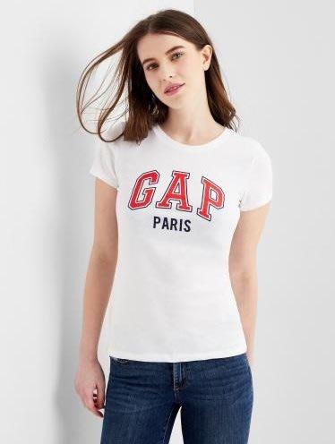 GAP 短袖T恤 女生 PARIS城市LOGO  美國甜心屋