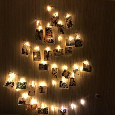 求婚婚禮 LED相片夾子燈 3米20顆LED 小夜燈 露營天幕燈條 告白道歉 浪漫創意 火樹銀花 聖誔佈置 生日禮物 新竹市