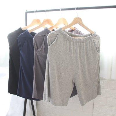 短褲 熱褲 莫代爾男士睡褲短褲大碼五分褲薄款寬松大褲衩 家居褲 男可外穿