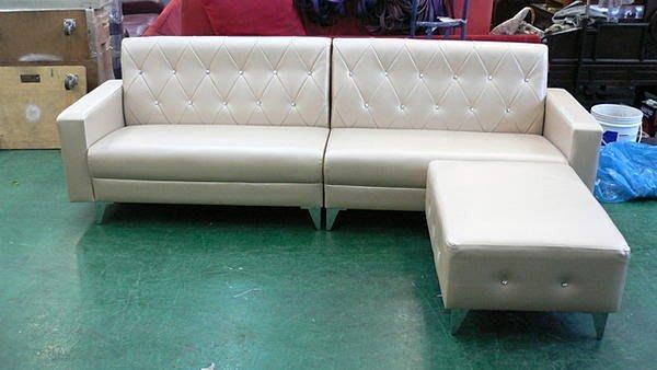 樂居二手家具館 庫存家具拍賣 A101*凱斯大型L型皮沙發*客廳桌椅/訂製各式布沙發全新2手價